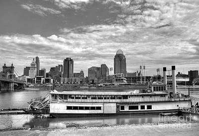 Photograph - A River City Bw by Mel Steinhauer