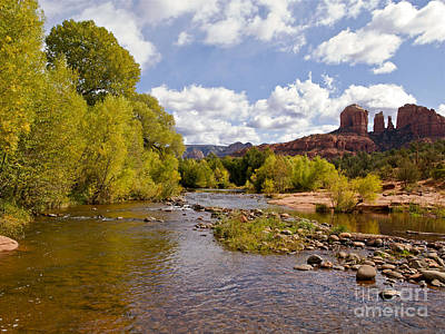Cathedral Rock Photograph - A River Runs Through It by Alex Cassels