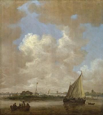 An Island Painting - A River Scene by Jan van Goyen