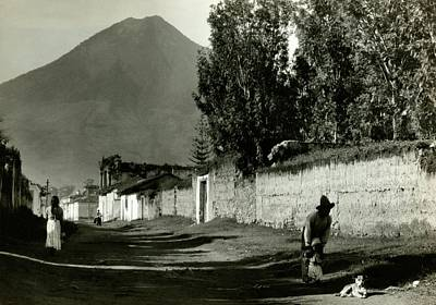 A Road By Mount Agua In Guatemala Art Print by Arnold Genthe