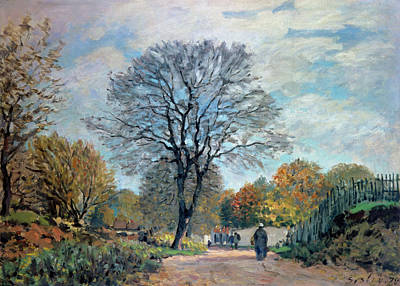 1878 Painting - A Road In Seine-et-marne, 1878 by Alfred Sisley