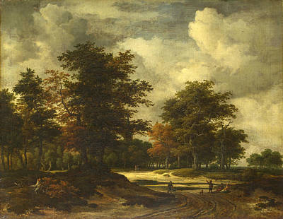 Painting - A Road Leading Into A Wood by Jacob Isaacksz van Ruisdael
