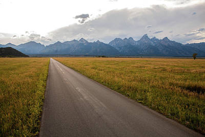 Teton Wall Art - Photograph - A Road Leading Toward The Grand Teton by Ben Horton