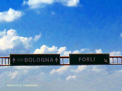 Bologna Photograph - A Road To Bologna by Alexandros Daskalakis