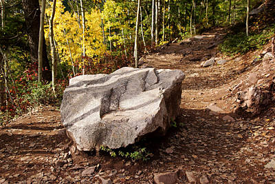 Photograph - A Rock In The Trail by Daniel Woodrum