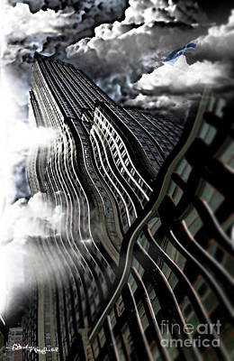 Empire State Building Mixed Media - A Rockin Empire State Building by Christine Mayfield