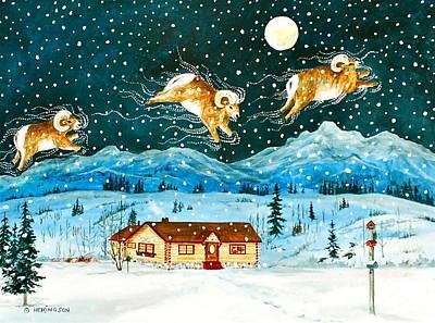 Banff Artist Painting - A Rocky Mountain Dream                             by Virginia Ann Hemingson