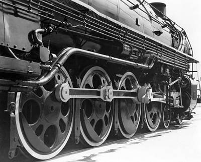 Railway Tracks Photograph - A Roller-bearing Locomotive. by Underwood Archives