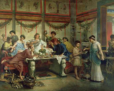 A Roman Feast Roberto Bompiani, Italian Roman Art Print
