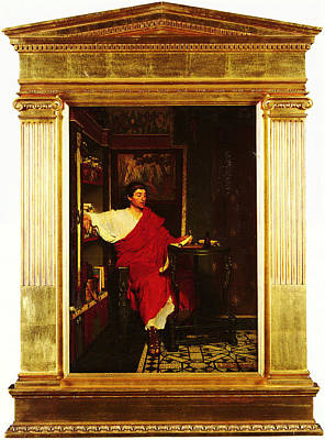 Scribe Painting - A Roman Scribe Writing Dispatches By Sir Lawrence Alma Tadema by MotionAge Designs