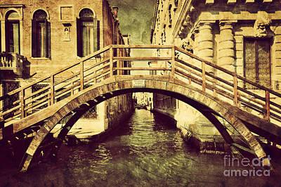Photograph - A Romantic Bridge In Venice Italy by Michal Bednarek