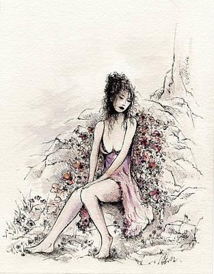 A Romantic Moment Print by Rachel Christine Nowicki