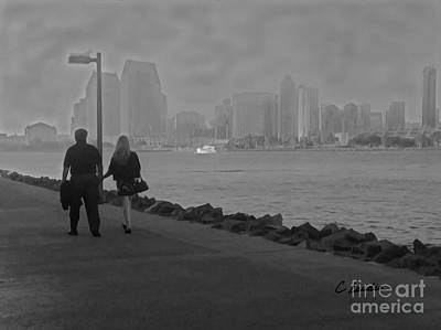 Photograph - A Romantic Walk 2 by Claudia Ellis