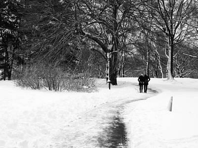 Photograph - A Romantic Winter Walk by Cornelis Verwaal
