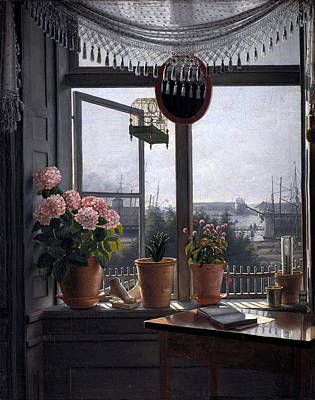 Window Painting - A Room With A View by Rorbi Martinus