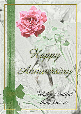 Photograph - A Rose Anniversary by Carolyn Marshall