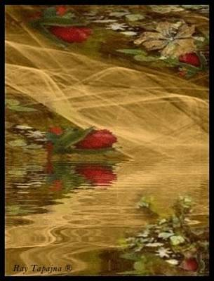 Mixed Media - A Rose Bud Stream by Ray Tapajna