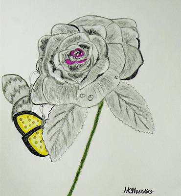 Drawing - A Rose By Any Other Name by Celeste Manning