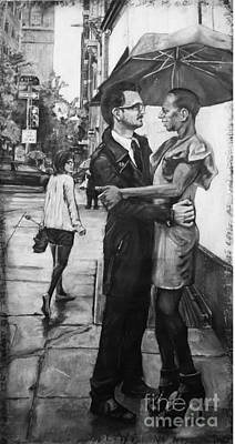 Philadelphia Street Drawing - A Rose By Any Other Name by Devon Reiffer