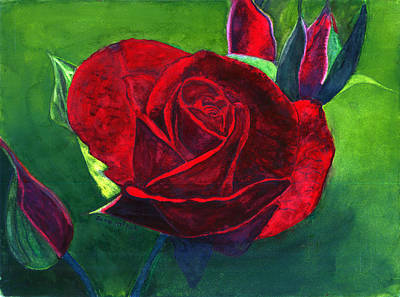 Painting - A Rose by Any Other Name by June McRae