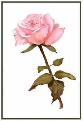 Digital Art - A Rose For My Love by Joan A Hamilton