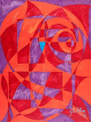 Joseph Edward Allen Painting - Tango In Red by Joseph Edward Allen
