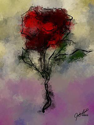 Digital Art - A Rose Is by The Art Of JudiLynn