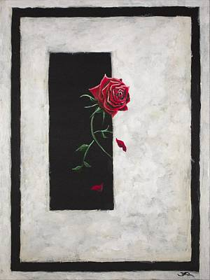Painting - A Rose by Joel Tesch