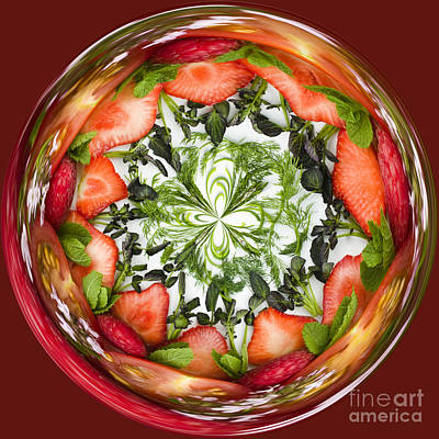 Manipulation Photograph - A Round Of Fresh Fruit Salad by Anne Gilbert