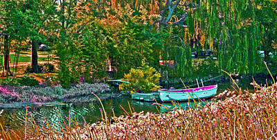 Snug Digital Art - a row back in Time by Joseph Coulombe