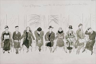 In A Row Digital Art - A Row Of Senior Women by Cecil Beaton