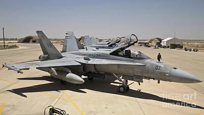 Air Jordan Photograph - A Row Of U.s. Marine Corps F-18 Hornets by Stocktrek Images