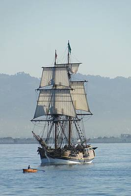 A Row With Lady Washington Art Print by Barrie Woodward