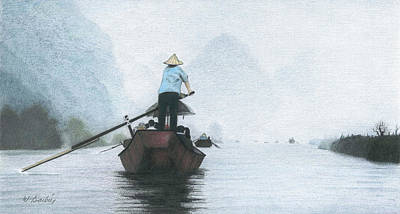 A Rower Woman Art Print by Wilfrid Barbier
