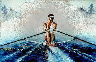 Sports Paintings - A Rowers Dream by Hanne Lore Koehler