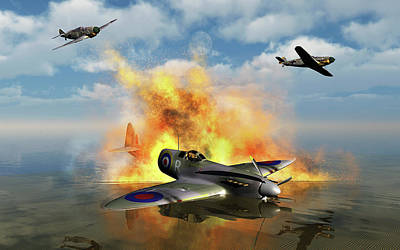 Spitfire Photograph - A Royal Air Force Spitfire Shot by Mark Stevenson