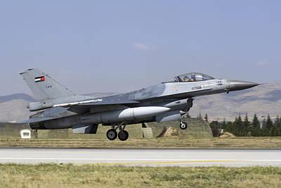Jordanian Photograph - A Royal Jordanian Air Force F-16am by Daniele Faccioli