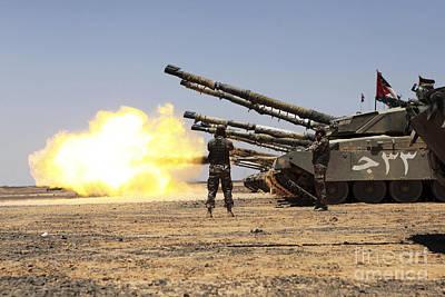 Jordanian Photograph - A Royal Jordanian Land Force Challenger by Stocktrek Images