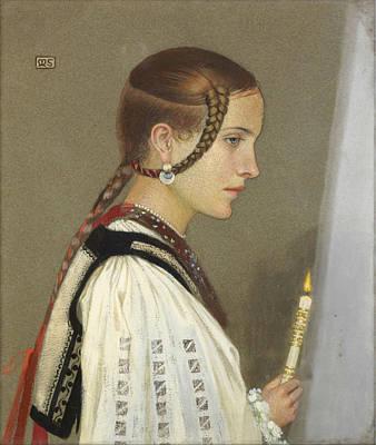 Bridesmaid Painting - A Rumanian Bridesmaid by MotionAge Designs