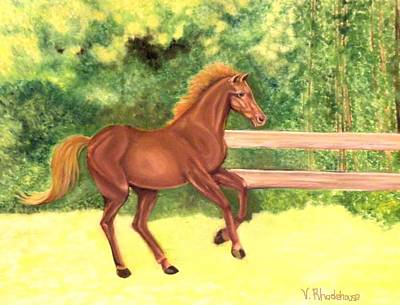 Painting - A Running Horse by Victoria Rhodehouse