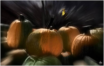 Photograph - A Rush Of Painted Pumpkins  by Wayne King