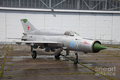 Abandoned Air Plane Photograph - A Russian Mig-21smt Fighter Plane by Timm Ziegenthaler