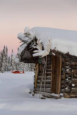A Rustic Winter Retreat Art Print