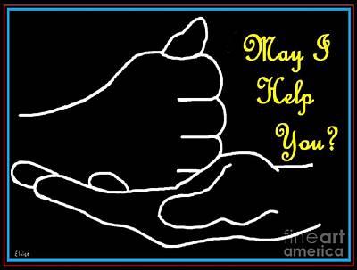 American Sign Language  May I Help You Art Print