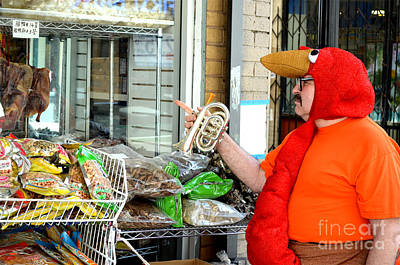 Photograph - A Sad Mr Special Spots Some Poultry In A Store Window In China Town by Jim Fitzpatrick