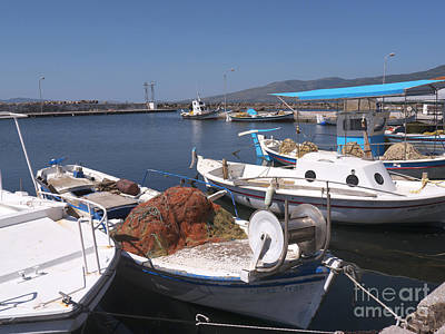 Photograph - A Safe Anchor In Lesvos by Brenda Kean