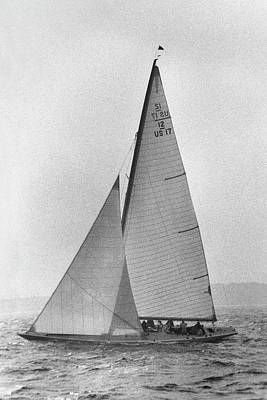 A Sailboat Art Print by Toni Frissell