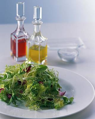 Salad Oil Photograph - A Salad With Dressings by Romulo Yanes