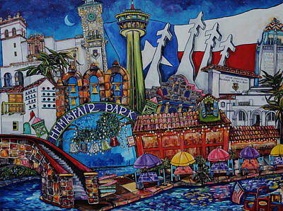 Painting - A Salute To San Antonio by Patti Schermerhorn