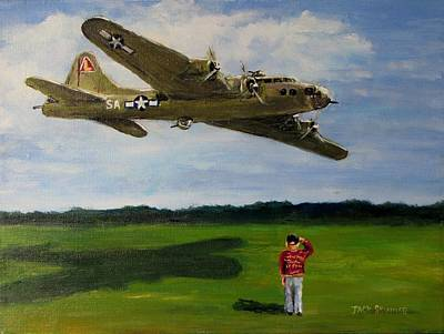 Painting - A Salute To The Greatest Generation by Jack Skinner